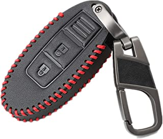 Happyit leren autosleutelafdekking case sleutelhanger voor Nissan Tiida Livina X-Trail Qashqai maart Juke Pathfinder opmer...