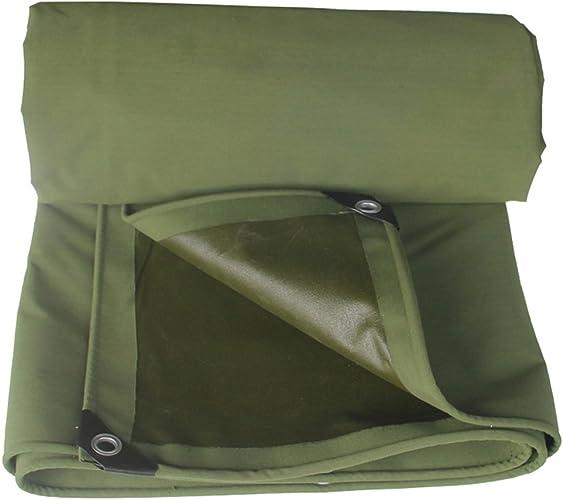 Double Bache Imperméable Vert épais Toile Parasol Parasol Extérieur Camping Tente Imperméable Auvent Tente, épaisseur 0,8 Mm, Une Variété De Tailles (taille   4MX6M)