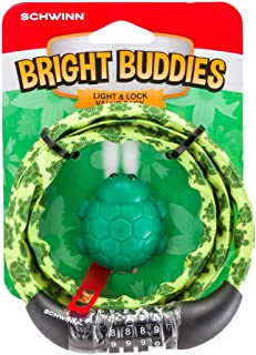 Schwinn Bright buddies light and lock value pack, turtle