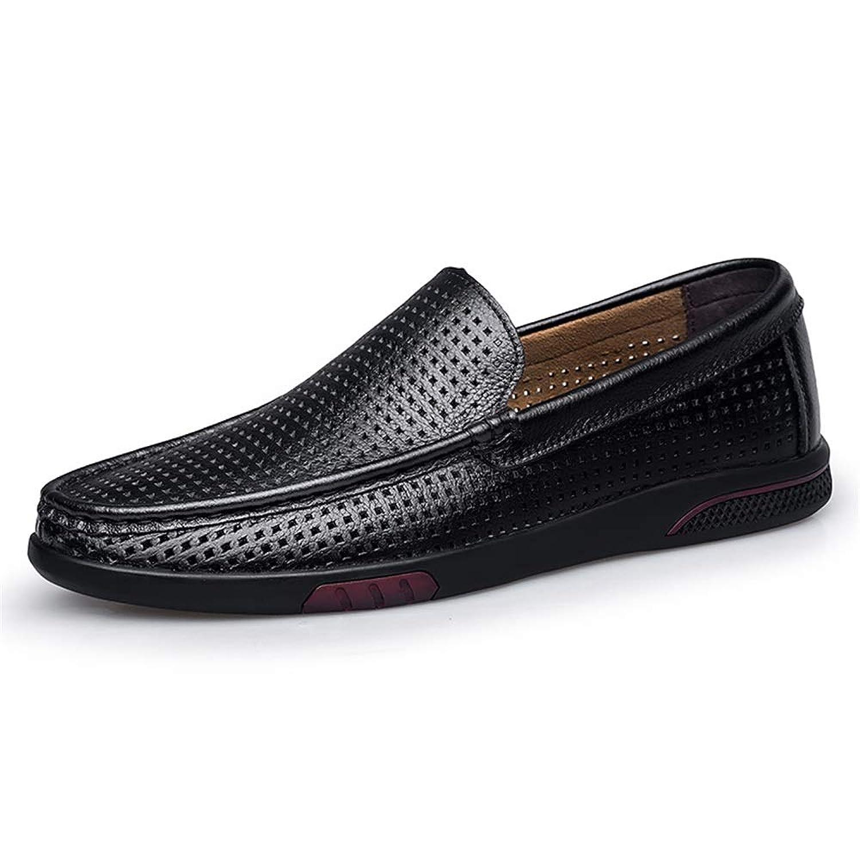 [ワイエルワイ] ドライビング ビジネスシューズ メンズ 防滑 軽量 通気 カジュアル 革靴