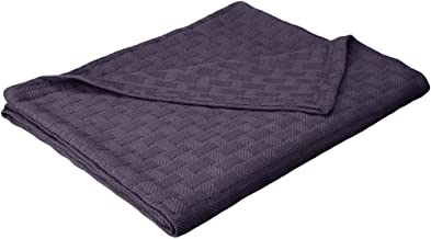 Superior 100% Thermal, Soft and Breathable Cotton for All Seasons, Bed Oversized Throw Blanket with Luxurious Basket Weave...