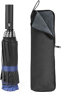 自動開閉 折りたたみ傘 軽量 日傘 折りたたみ 紳士折りたたみ傘ワンタッ チ丈 撥水 耐風 晴雨兼用 逆さ 折り畳み傘 収納カバー付き