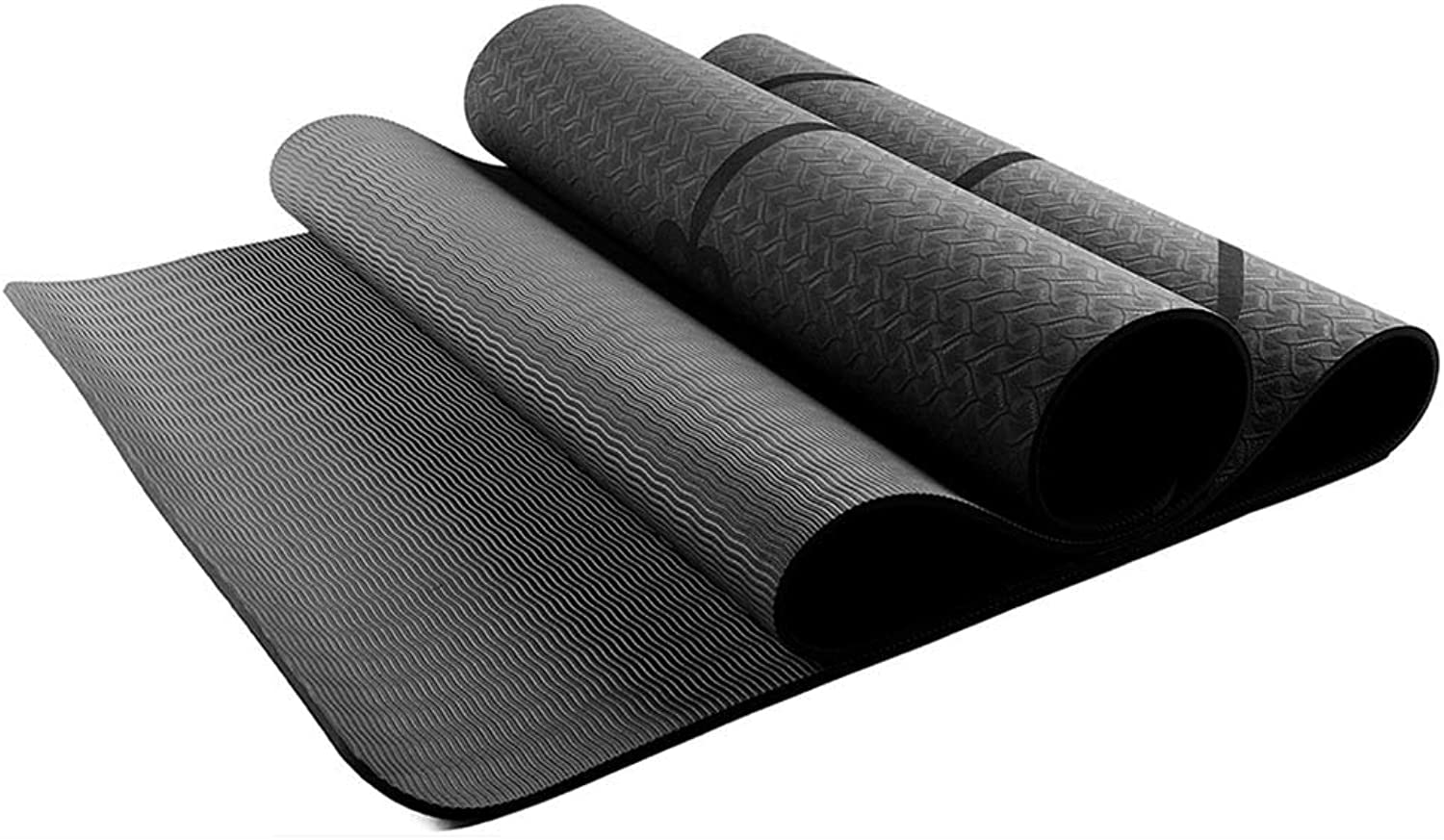 GreenValley113  TPE Yoga Mat 1830x610x6mm with Position Line Non Slip Carpet Mat for Beginner Environmental Fitness Gymnastics Yoga Mats