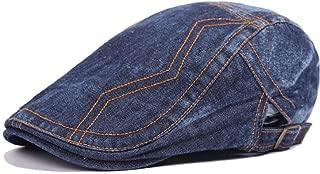 MZHHAOAN Beret Hats for Women Baker hat Denim Stitching Cap