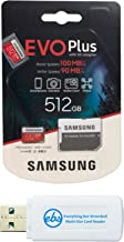 Samsung 512GB EVO+ Micro SD Memory Card for Samsung Phone Works with Galaxy Note 20 Ultra 5G, A42 5G, A21, A21s Phone (MB-...