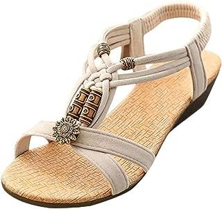 Summer Sandals,Boomboom 2018 Casual Women Young Girls Peep-Toe Flat Buckle Shoes Roman Summer Sandals