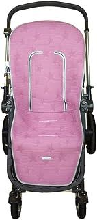 Colchoneta silla hamaca grande Rosy Fuentes en gris y rojo