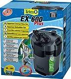 TETRA EX 600 Plus - Filtre Extérieur pour tout type d'aquarium de 60 à 120L – Performant, puissant, silencieux – 5 types de filtration – Fonction de préfiltration - Garantie 3 ans