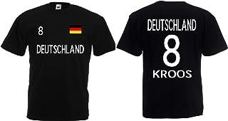 Deutschland Kroos Herren T-Shirt EM 2020 Trikot Look Style Shirt