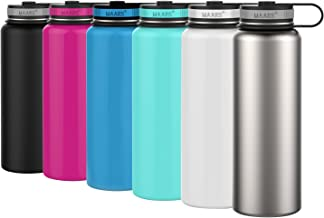 Maars Eddy Wide Mouth Double Wall Vacuum Insulated Stainless Steel 40 oz. Sports Water Bottle | 2 Pack