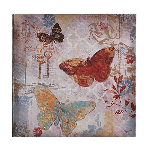 Zingz and Thingz Flying Butterflies Canvas Wall Art