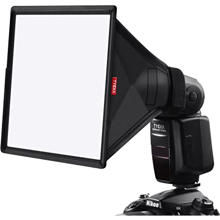 TYCKA 23 x 18cm Difusor de Flash Softbox (Universal, Plegable) para Nikon, Canon, Sony, yongnuo y Otros Flashes DSLR
