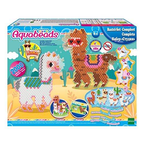 Aquabeads 31596 - Lovely Lama Set, Bunt