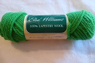 Grass Green Elsa Williams 100% Wool Needlepoint Yarn 40 Yards - Made in the U.S.A