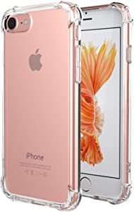 Matone Compatible with SE 2020 Case/iPhone 8 Case/iPhone 7 Case [Crystal Clear] [Shock-Absorption] [Anti-Scratch] Bumper Soft TPU Cover Case for iPhone SE 2020/ iPhone 8 / iPhone 7- Clear