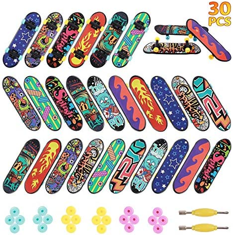 HEHALIs 30 Pcs Finger Skateboards Fingerboards in 10 Different Patterns Novelty Toys for Kids product image