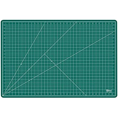 US Art Supply 24  x 36  GREEN/BLACK Professional Self Healing 5-Ply Double Sided Durable Non-Slip PVC Cutting Mat Great for Scrapbooking, Quilting, Sewing and all Arts & Crafts Projects