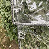 Lona Impermeable Tarea Pesada, Cloruro Polivinilo Claro Hoja Lona Con Marquesinas Ojales, Anti Envejecimiento Aislamiento Plegable Dosel Plantas Prueba Lluvia ( Color : Claro , Size : 1.80x2.00m )