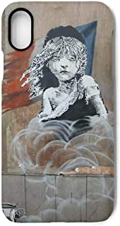 Funny Les Miserables French Flag Banksy Street Art Graffiti French Flag iPhone Case for iPhone X Case with Design Cell Phone Ultra Thin Silicone Rubber Anti-Drop-Scratch TPU Frame 5.8