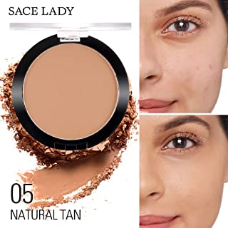SACE LADY Poreless Silky Pressed Powder Smooth Lightweight Non Crease 6g/0.2oz (Natural Tan)