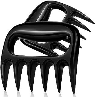 OOK Garras de carne, accesorio para barbacoa: trituradora de carne, 2 unidades, para barbacoa, fumador, barbacoa (negro)
