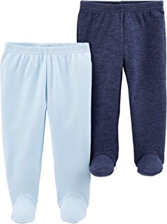 Carter's Child of Mine Blue Footed Pants, 2-Pack (Baby Boys) Preemie