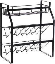 Spice Rack • Wrought Iron Kitchen Shelf • Countertop Multi-Layer Seasoning Storage Rack for Kitchen, Storage