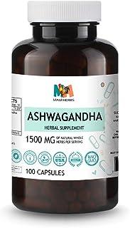 Ashwagandha 100 Capsules, 500 mg, Ashwagandha Root (Withania Somnifera)