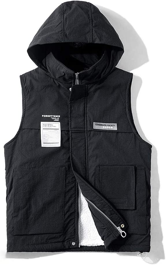 HXR Men's Winter Youth Tooling Cotton Vest Thickening Warm Vests (Color : A, Size : XXXXL)