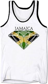 Bang Tidy Clothing Men's Graphic Tank Top Jamaican Flag Diamond Sleeveless Tee Shirt
