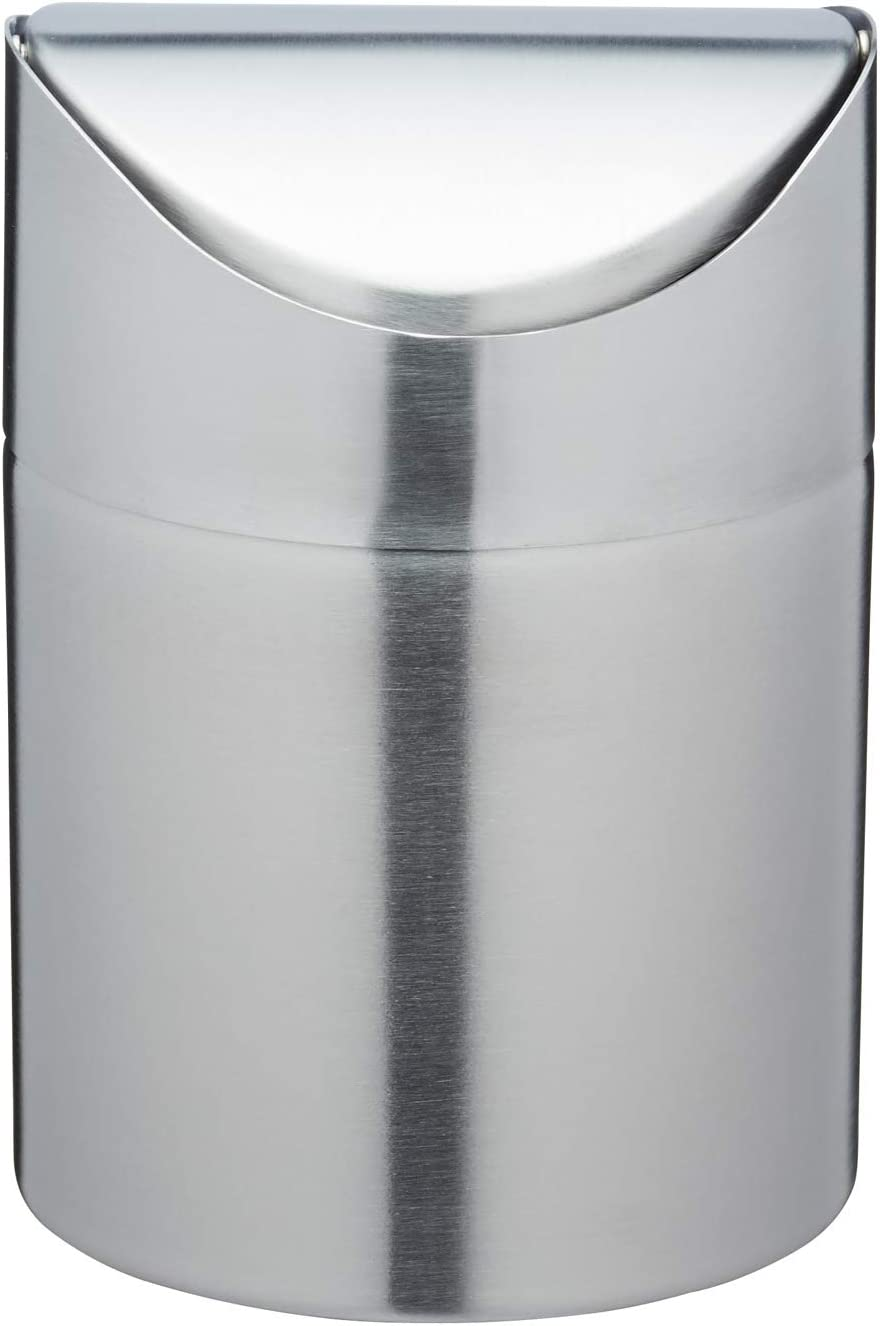 Kitchen Craft Le'Xpress Mini Stainless Steel Table Top Bin, 9 x 9.9 x 9  cm Silver