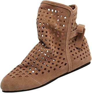 b494fc48f53 ZODOF Botas de Mujer Planas Ocultas Bajas cuñas Botines de Tobillo Zapatos  Casuales Botines Lindos