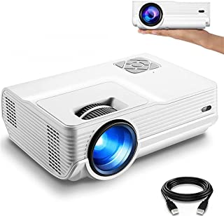 """Shayin Projector,+80% Brightness HD 4900LUX Video Projector with 200"""" Display 60,000 Hrs Led Home Theater Projector, 1080P..."""