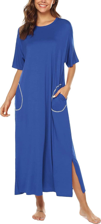 LonoLaka Womens Short Sleeve Round Indefinitely Paj Oversized Loungewear Neck 4 years warranty
