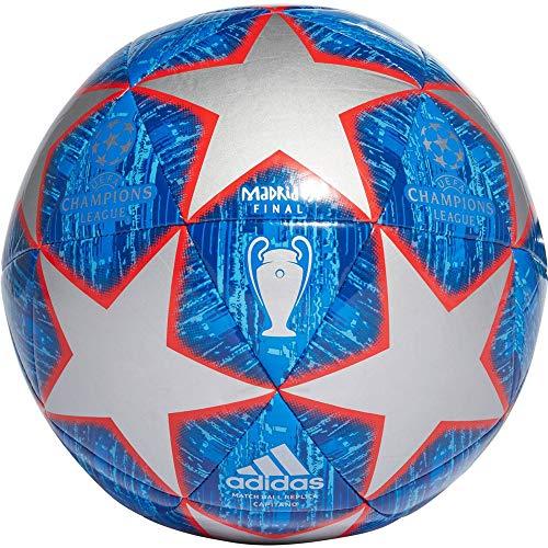 Adidas Finale Capitano Ball da uomo, Uomo, Palla., DN8678, Parte superiore: argento metallico/blu audace/calcio/blu/azzurro; fondo: rosso attivo., 5
