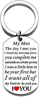 Anniversary For Him Men Husband To My Man Keychain Gift for Him for Boyfriend Fiance From Girlfriend Wife Birthday Valenti...