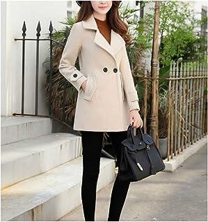 New Winter Coat Large Size Women Winter Long Slim Wool Blends Coats Female