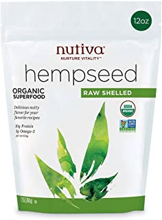 Nutiva Organic, Raw, Shelled Hempseed , 12-ounce