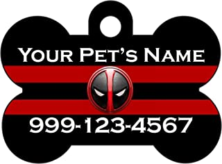 Deadpool Personalized Dogs Cats Number