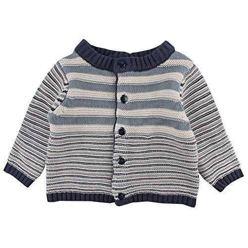 Fixoni Free Knit Cardigan Gilet, Bleu (30-09 Lead 30-09 Lead), 50 cm Bébé garçon
