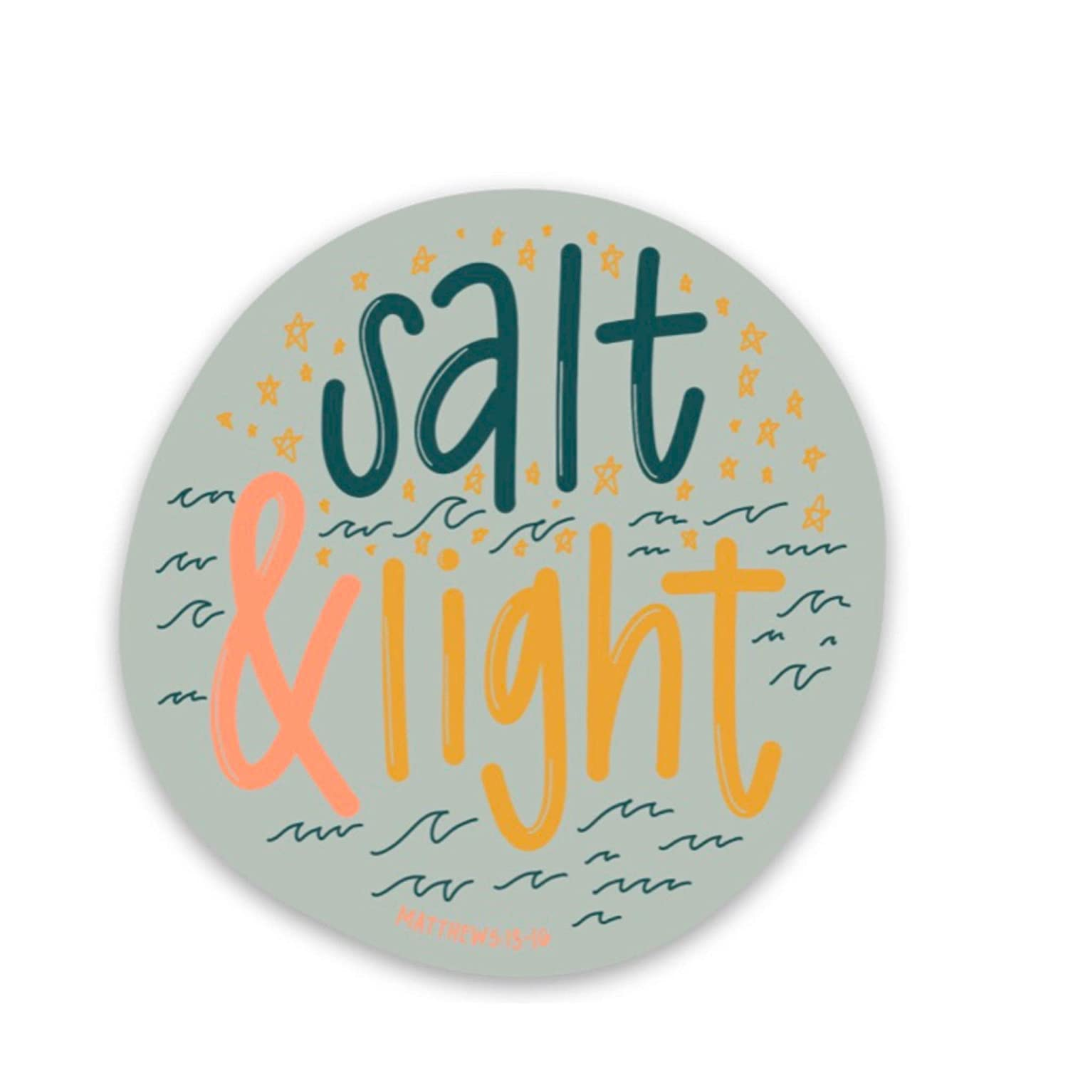 Salt and light sticker At 5 popular the price of surprise Christian about God faith Je stickers