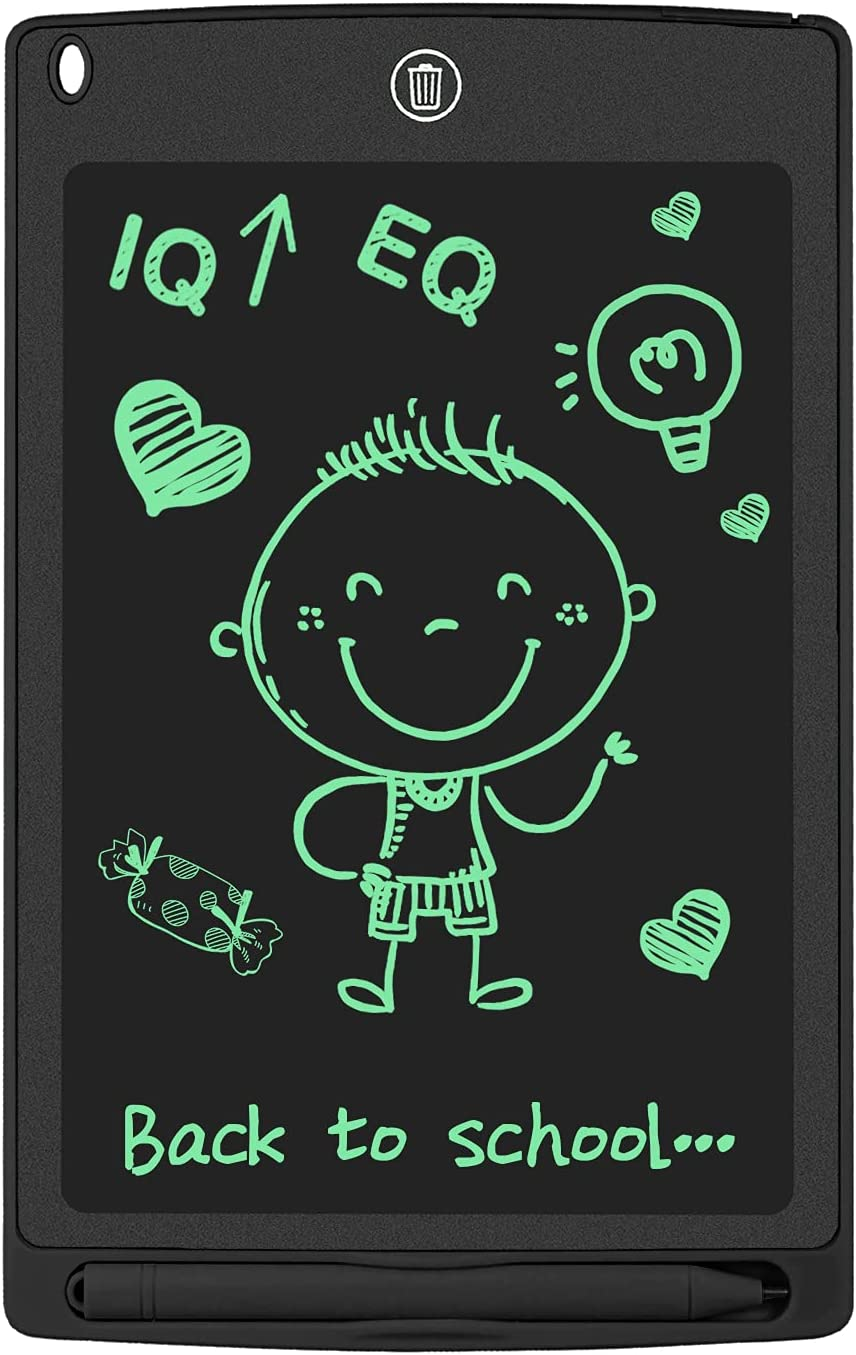 WOBEECO LCD Writing Tablet, 8.5inch Doodle Board Sketch Pad Electronic Drawing Pad for Kids (Black)