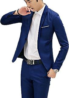 Aislor Formel Blazer Pantalon Homme Ensemble Tenus Affaire Soirée Costume Business Mariage Smoking 2 Pièce Grande Taille Q...