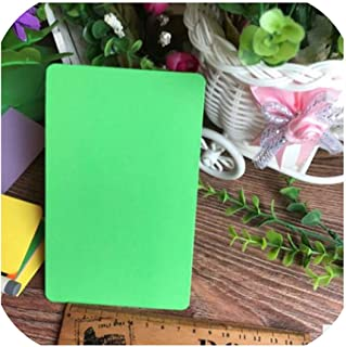 10pcs/pack DIY Blank Foldable Cards Hand Drawing Doodle Paper Cards Happy Birthday Card Greeting Cards,Green