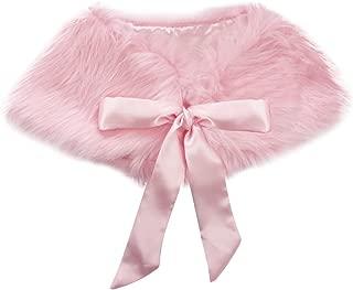 Femmes fourrure châle chaud Cape Fashion Scarf Long Épaule Cou Moelleux Papier Mariage