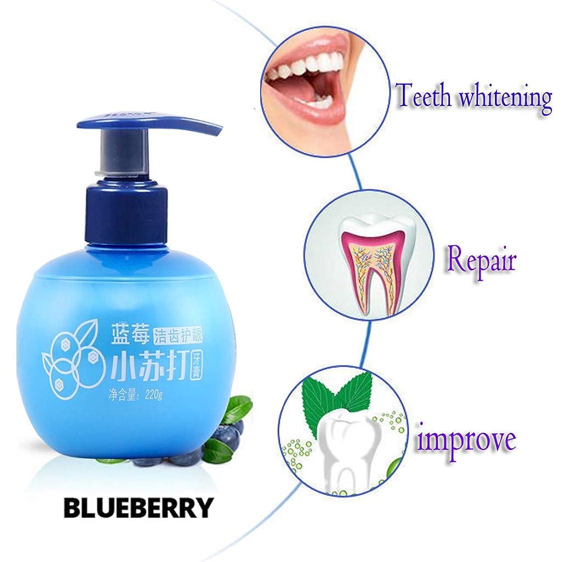歯磨き粉 歯磨き粉を白くする強い除染 薬用 歯磨き 歯周病 口臭予防 フッ素 キシリトール 配合 子供 にも使える 大人 ブルーベリーの味 パッションフルーツの味 (ブルー)