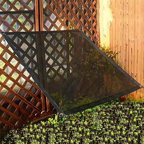 LKHG Red De Sombra De Jardín Negra, Bloqueador Solar De Malla Resistente A Los Rayos UV, 50%-70% De Tasa De Sombreado, Toldo De Tienda De Jardín para Flores De Plantas, Perreras para Mascotas