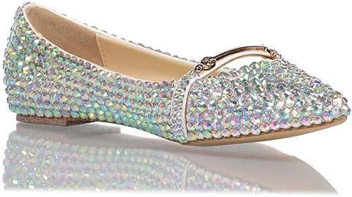 XLY XLY Ballerines Classiques Bout Pointu Scintillant Strass Ballerines, Chaussures de soirée,36  design simple et généreux