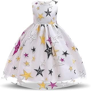 Balalei Kids Dresses for Girls Night Sky Black Dress Baby Girl Party Wedding Gown Children Girl Princess Costume 10T