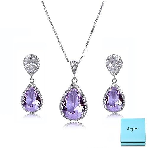 Purple Wedding Jewelry Sets
